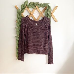 Free People Brown and Black Blended Sweater